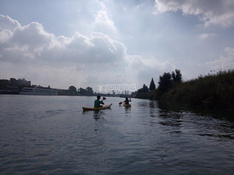 Kayak rental on the Guadalquivir river