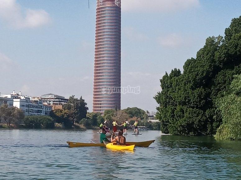 Kayak rented in Seville