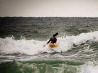 paddling with waves