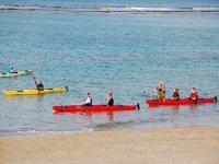 Christmas canoeists