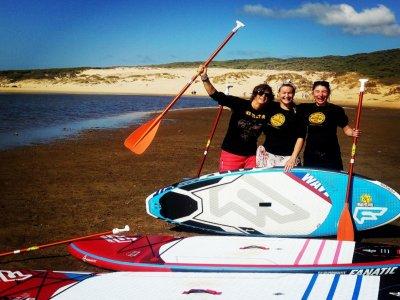 Alquiler material paddle surf en Tarifa 1 hora