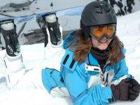 Empresa y snowboard
