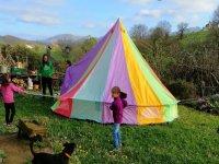 Peques en el campamento