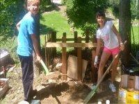 Trabajando en el huerto ecológico