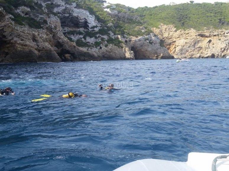露天潜水员练习