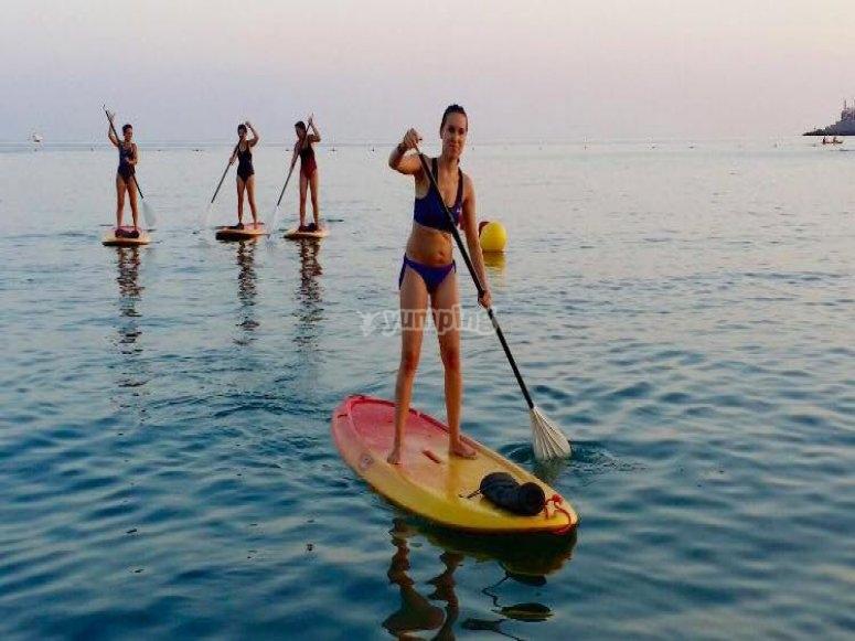 Travesía en paddle surf