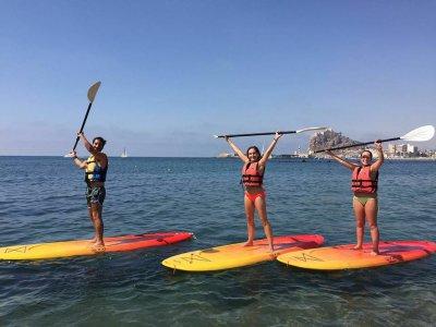 Travesía guiada paddle surf Las Canteras 1h30min