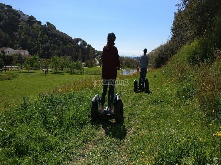 Segways en el campo