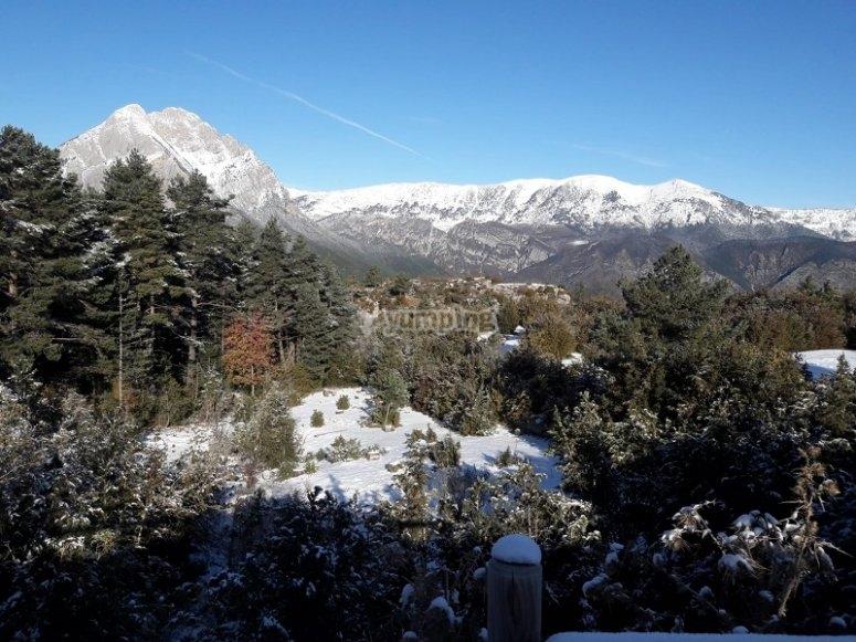 Vista sulla montagna Pedraforca