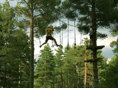 High difficulty zip-lines circuit Saldes 2h 45m