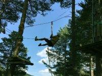 Zip line jump
