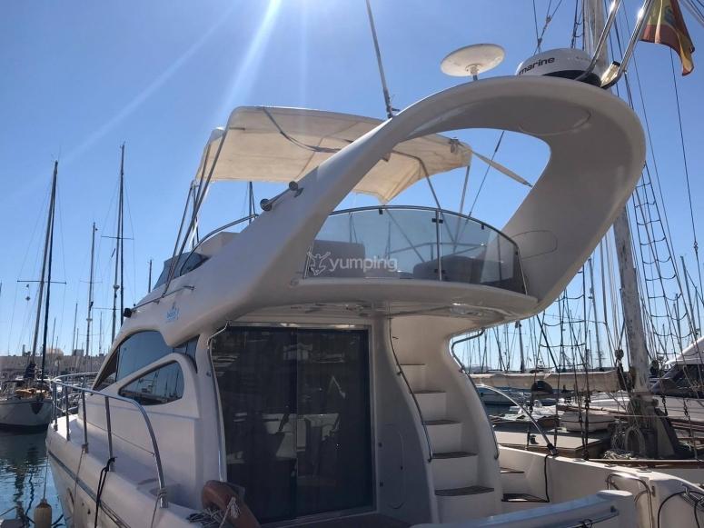En el puerto de Alicante antes de zarpar