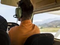 A bordo dell'aereo durante il volo