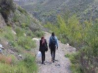 Route through the mountains