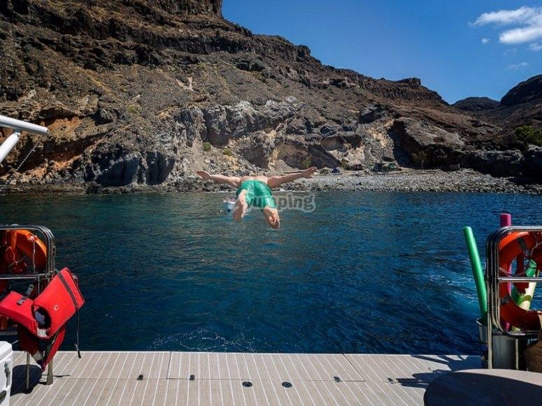 Disfrutando de las aguas atlánticas