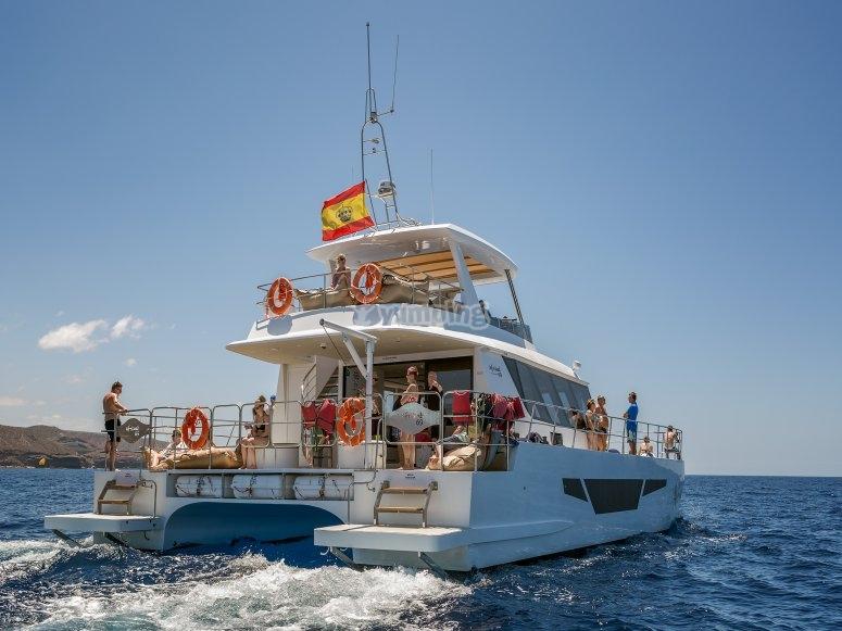 Navegando en Gran Canaria