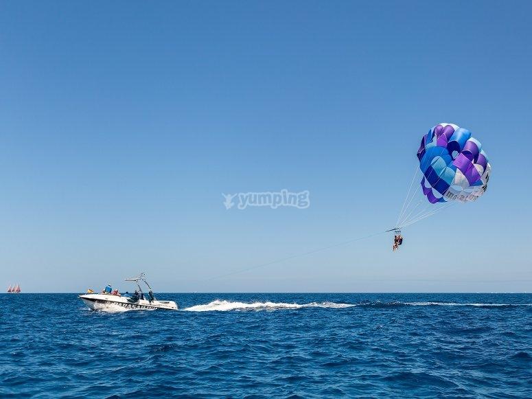 大加那利岛的帆伞运动
