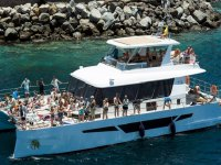 大加那利群岛儿童的乘船游览和现场音乐
