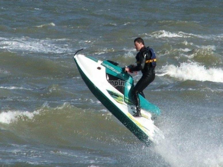Disfrutando de la actividad náutica