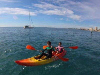 Alquiler de kayak doble y remos en El Campello 2h