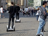 Following the segway tour through the city