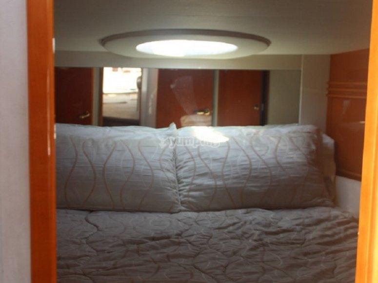 El dormitorio de la embarcación