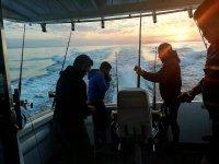 从船上捡起鱼竿