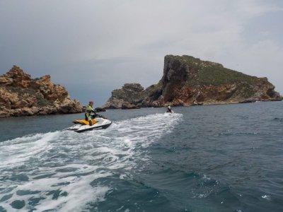 1小时双水摩托车的路线选择。梅达斯群岛
