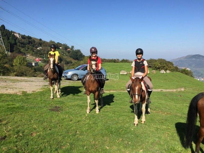 Ruta a caballo en Vizcaya