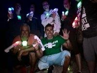 Laser tag nocturno en exterior