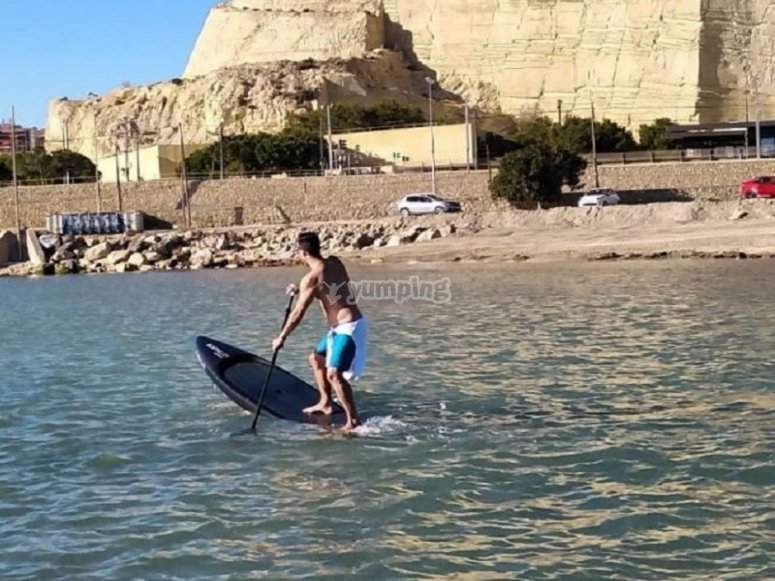 Sailing on the beaches of Alicante