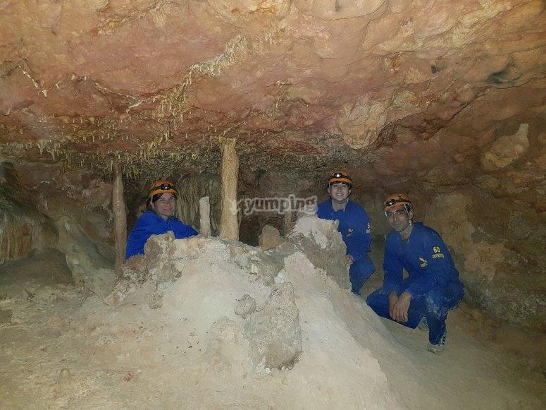En un rincón de la gruta