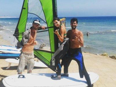 Curso grupal de windsurf con monitor  Tarifa 3días