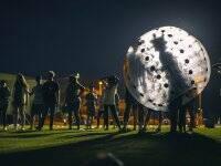 Bubble football in Cadrete