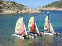 Fleet of catamarans