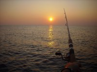 在赫罗纳海岸钓到风筝3小时