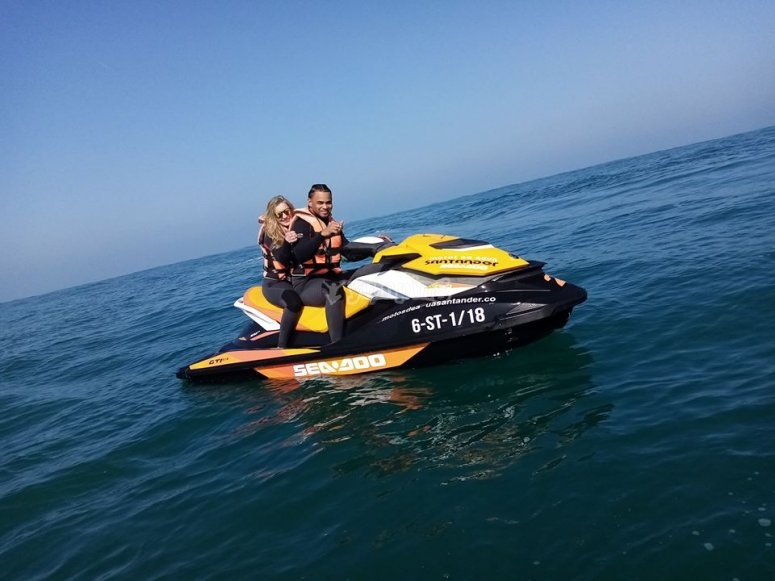 Couple on jet ski