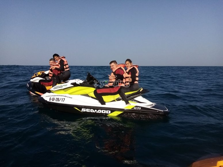 Jet ski route with friends