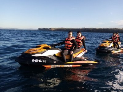 Two-seater jet ski route Santander Low Season