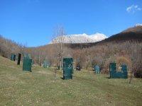 山上的两个彩弹射击场