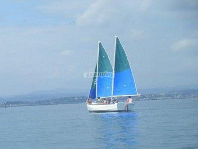 The sailboat by the sea