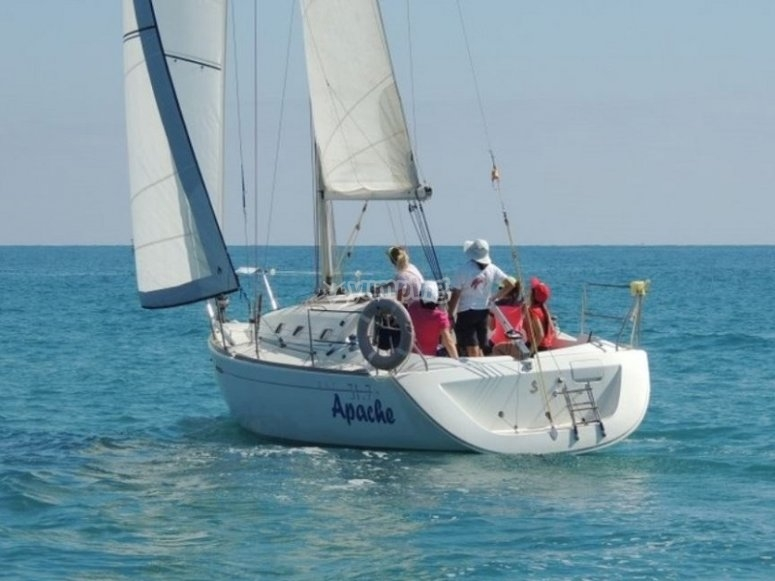 The pleasure of sailing the salty waters