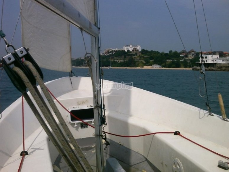 The sailing boat from the interior