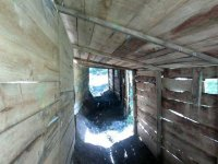 Tunel en escenario de paintball