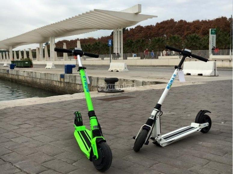 Alquiler de patinetes electricos en Malaga