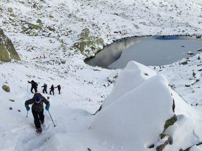 Ruta raquetas de nieve Peñalara nivel moderado 6 h