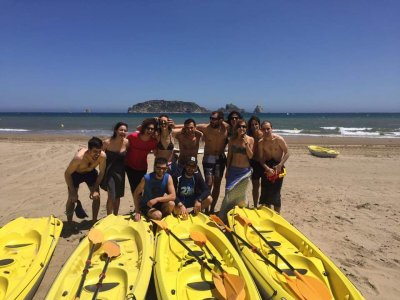 1 h de alquiler kayak doble en playa de l'Estartit