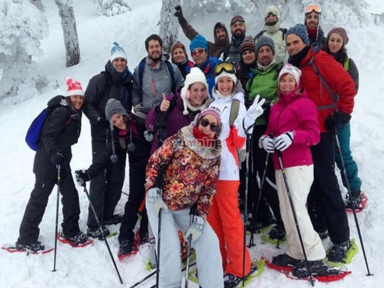 The group satisfied with the guided route