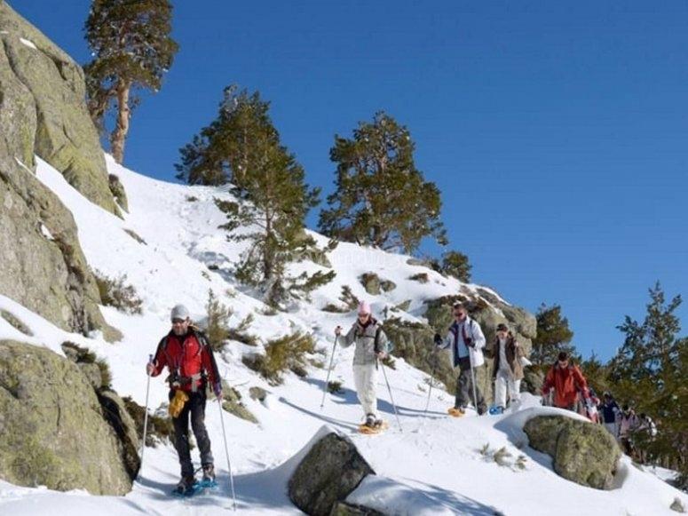Avanzando por senderos nevados