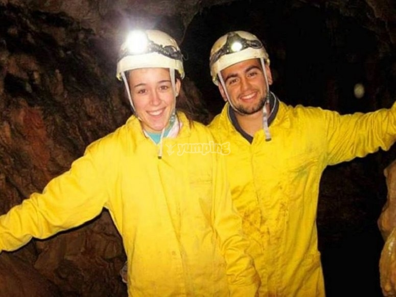 Happy with the caving adventure